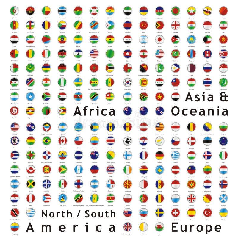 värld för rengöringsduk för knappflaggavektor arkivfoton