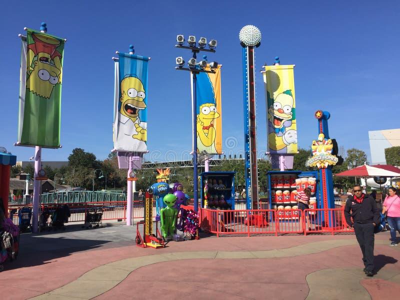 Värld för Simpson ` s, universella studior Orlando, Florida royaltyfri bild