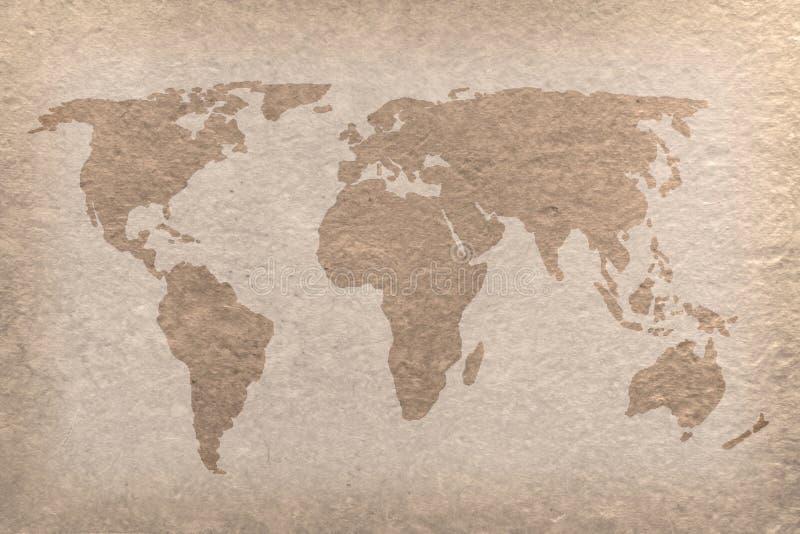 värld för tappning för hantverköversiktspapper