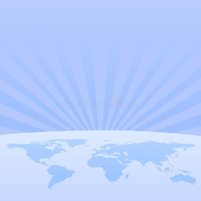 värld för titelradavståndsrengöringsduk royaltyfri illustrationer