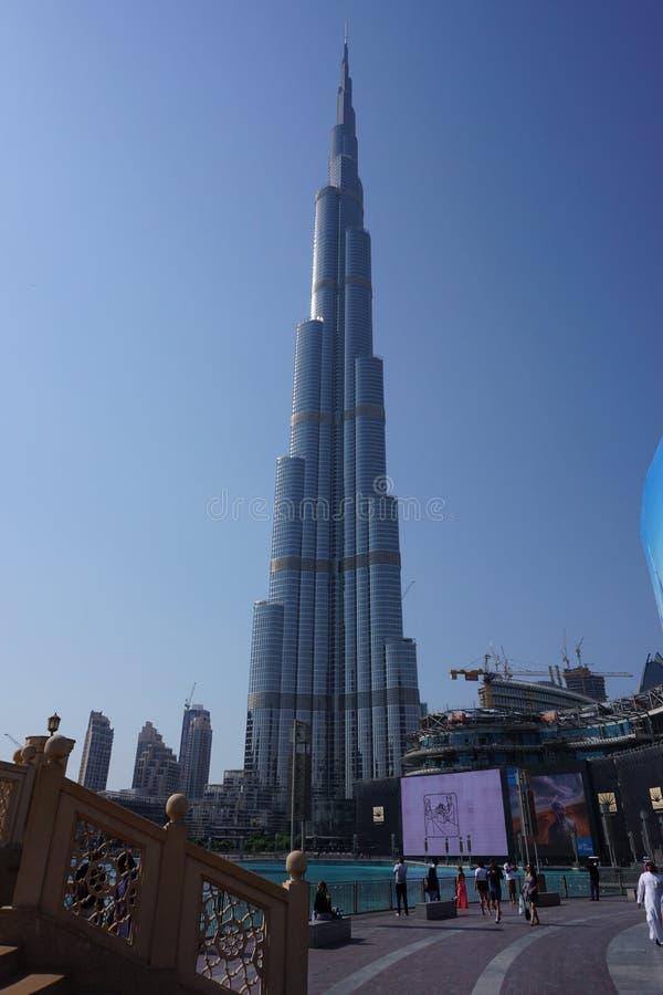 värld för uae för torn för burjdubai khalifa mest högväxt arkivfoton