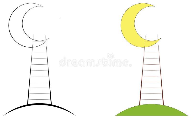 Värld för utopimånetrappa vektor illustrationer