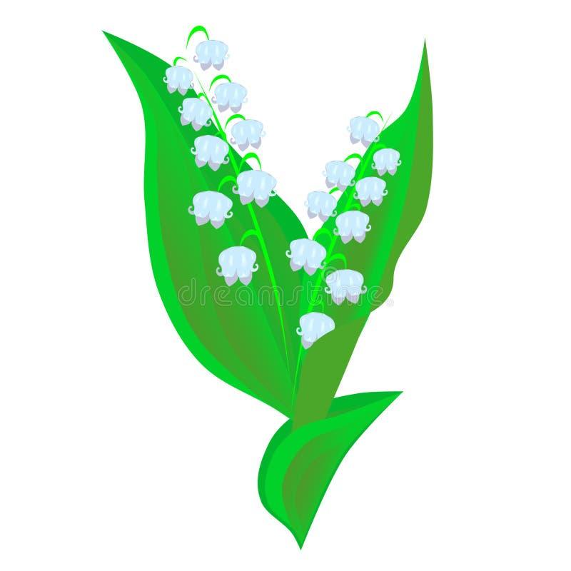 värld för vildmark för dal för liljanaturryss vektor illustrationer