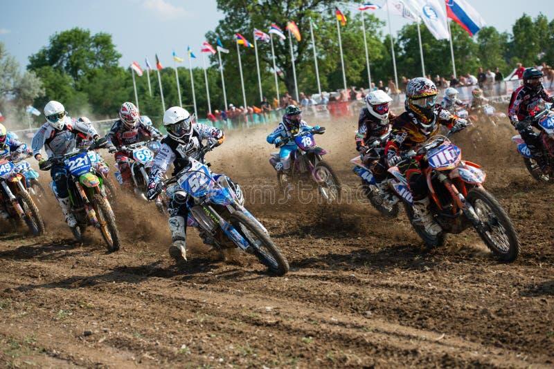 värld för wmx för mästerskapmotocross mx3 slovakia royaltyfria bilder