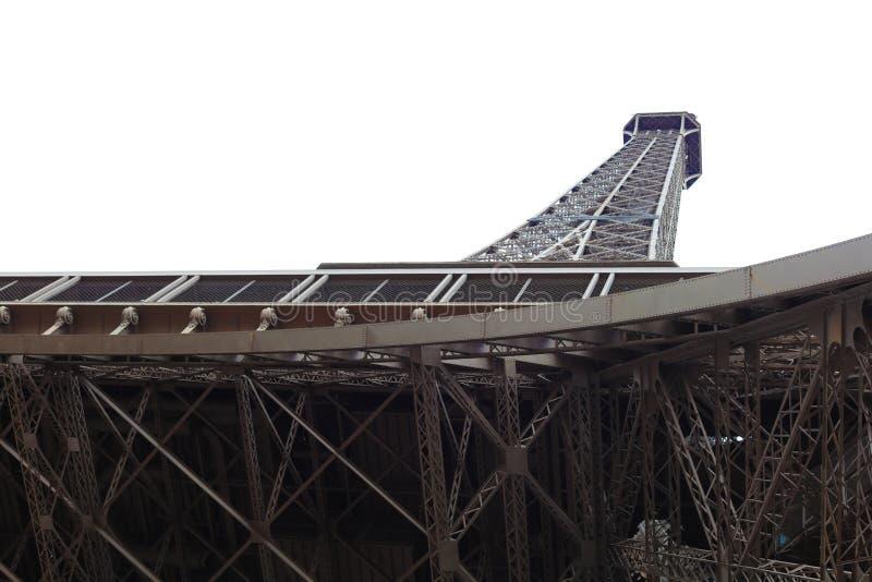 Värld mest berömd gränsmärkeEiffeltorn i Paris Frankrike under soluppgång inga personer i bild royaltyfri foto