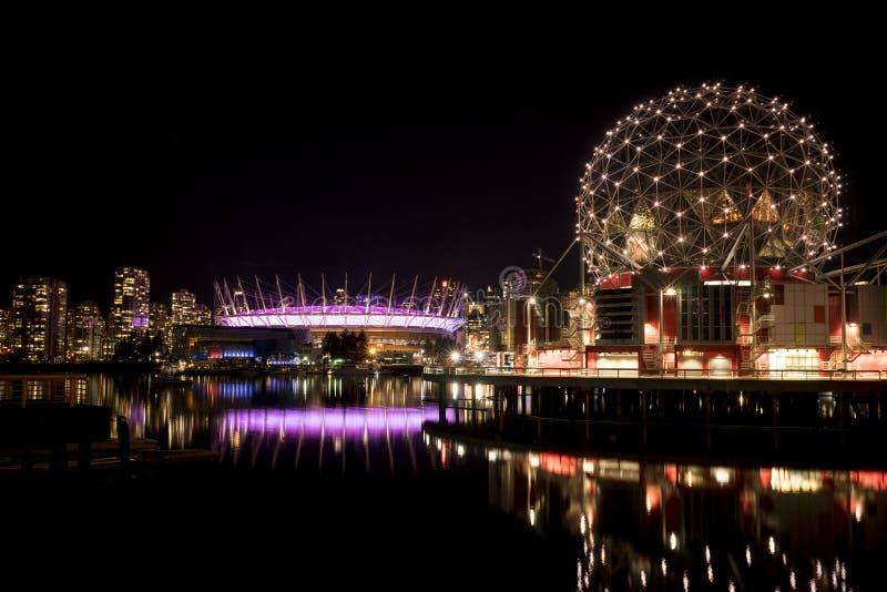 Värld och F. KR. ställe för Vancouver vetenskap royaltyfri bild