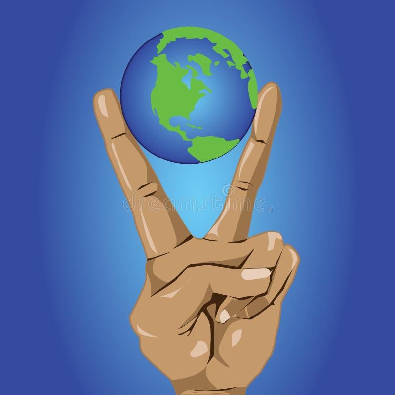 Värld på fred vektor illustrationer