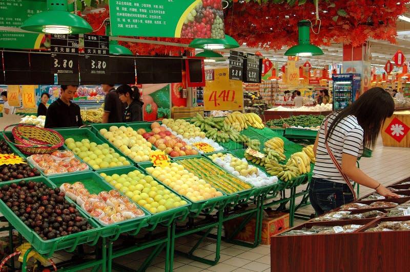 Värld Xi För Porslinhong Supermarket Redaktionell Arkivfoto