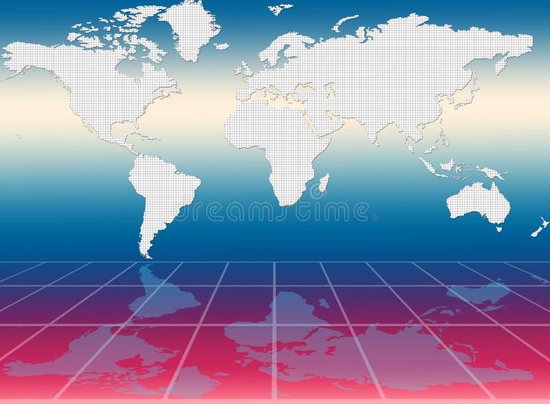 Världen kartlägger stock illustrationer