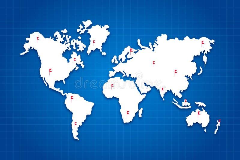 Världen kartlägger royaltyfri illustrationer