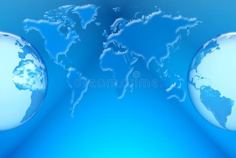 Världen kartlägger vektor illustrationer