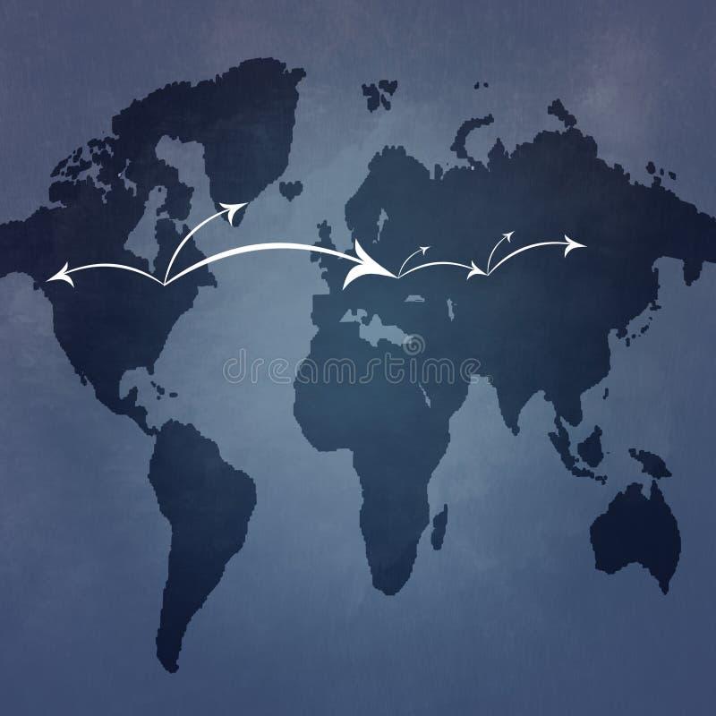 Global connectivity vektor illustrationer