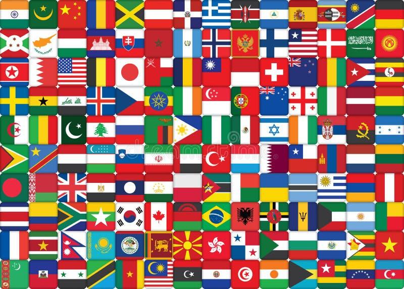 Världen sjunker bakgrund royaltyfri illustrationer