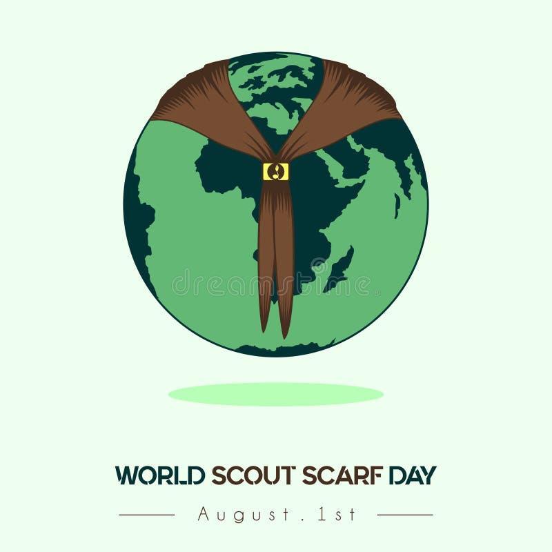 Världen spanar den Scarf Day Vector designen stock illustrationer