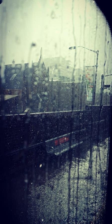 Världen utanför fönstret arkivfoto