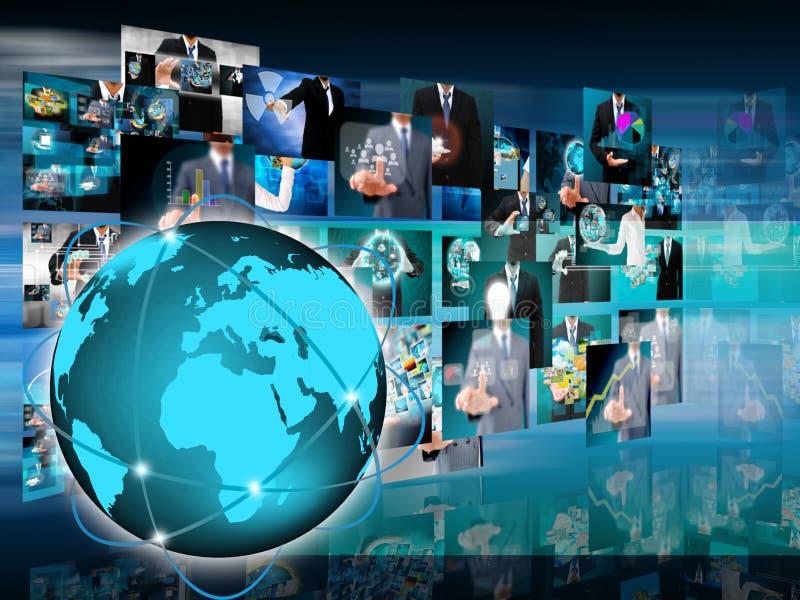 Världsaffär och teknologi arkivfoto
