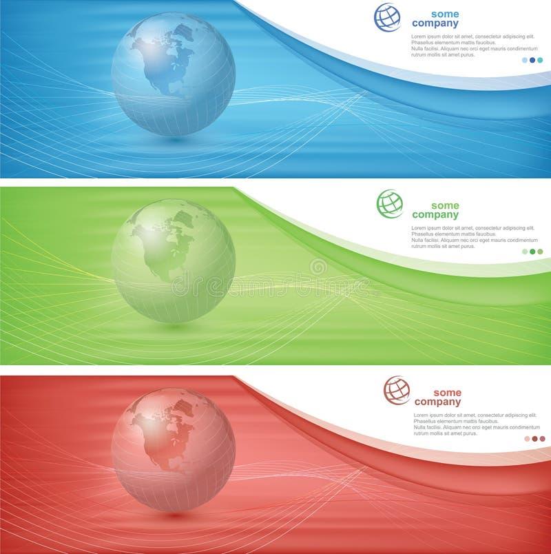 Världsbaner stock illustrationer