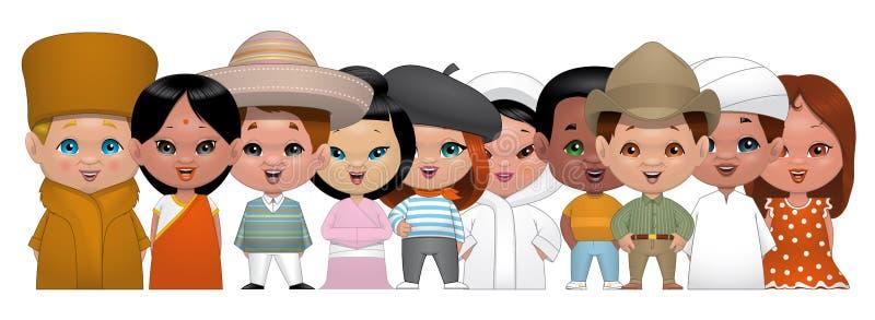 Världsbarn stock illustrationer