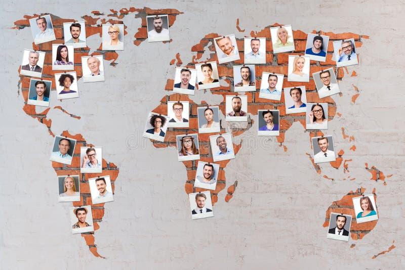 Världsbefolkning royaltyfri foto