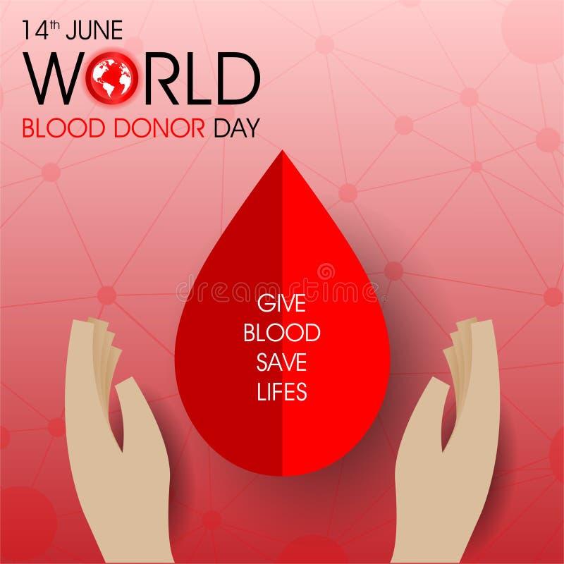 Världsblodgivaredag royaltyfri illustrationer