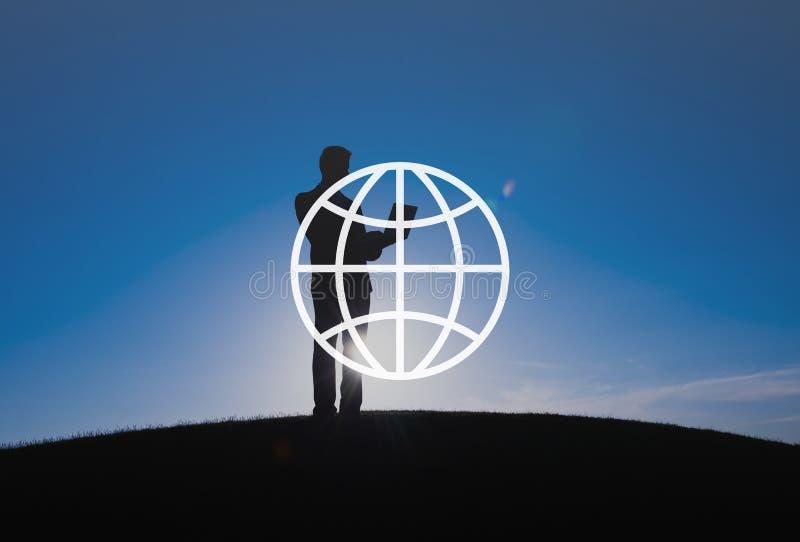 VärldsConnecteภför global gemenskap internationell världsomspännande  fotografering för bildbyråer