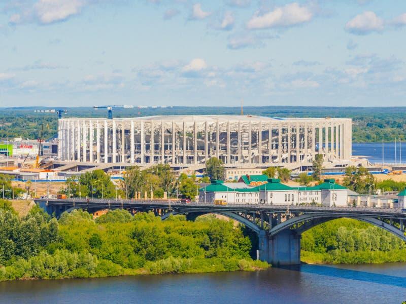 VärldscupFIFA stadion 2018 i Nizhny Novgorod arkivfoton
