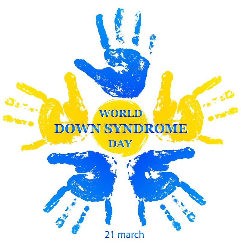 VärldsDown Syndrome dag vektor illustrationer
