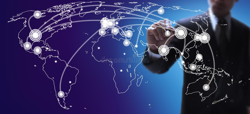 Världsekonomier kartlägger arkivfoto