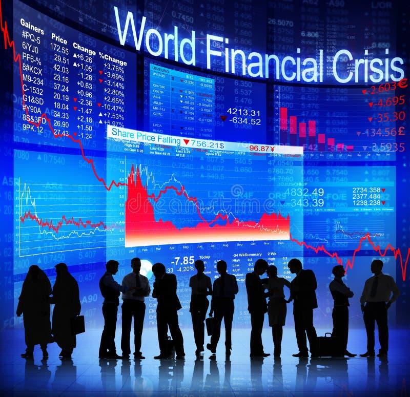 Världsfinanskris arkivbilder
