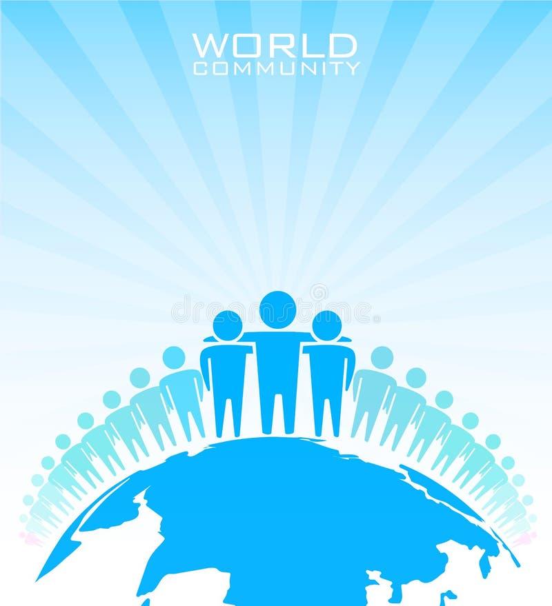 Världsgemenskap. Affärsidé royaltyfri illustrationer