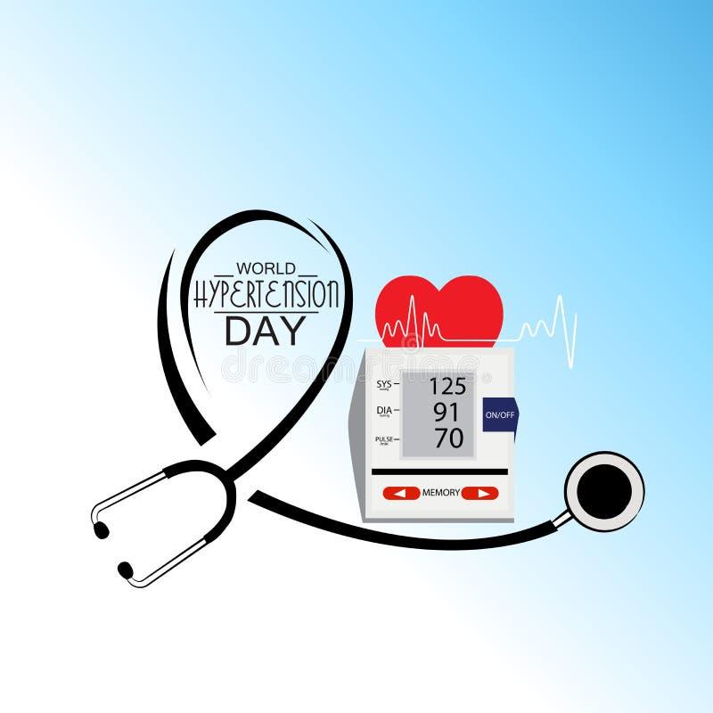 Världshögt blodtryckdag royaltyfri illustrationer