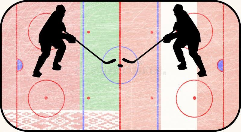 Världshockeymästerskap Vitryssland vs Österrike stock illustrationer