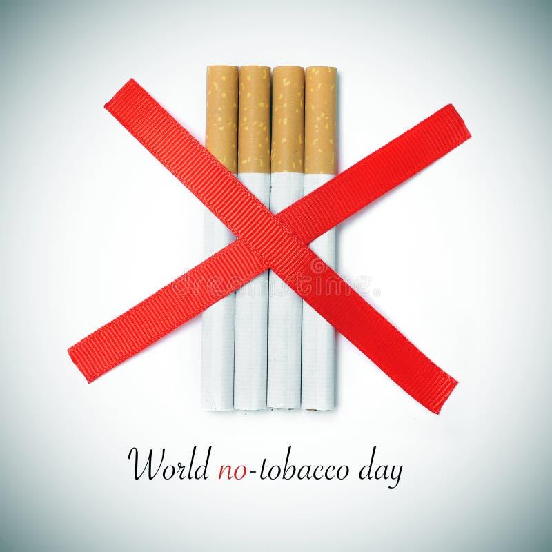 Världsingen-tobak dag arkivbilder