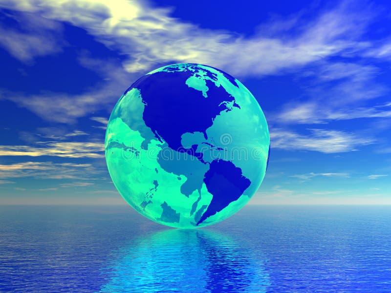 Världsjordklot royaltyfri illustrationer