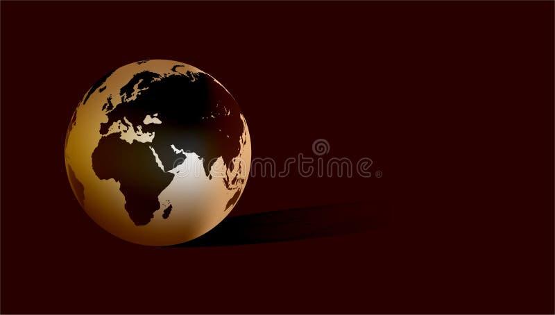 Världsjordklot med mörk bakgrund ocks? vektor f?r coreldrawillustration stock illustrationer
