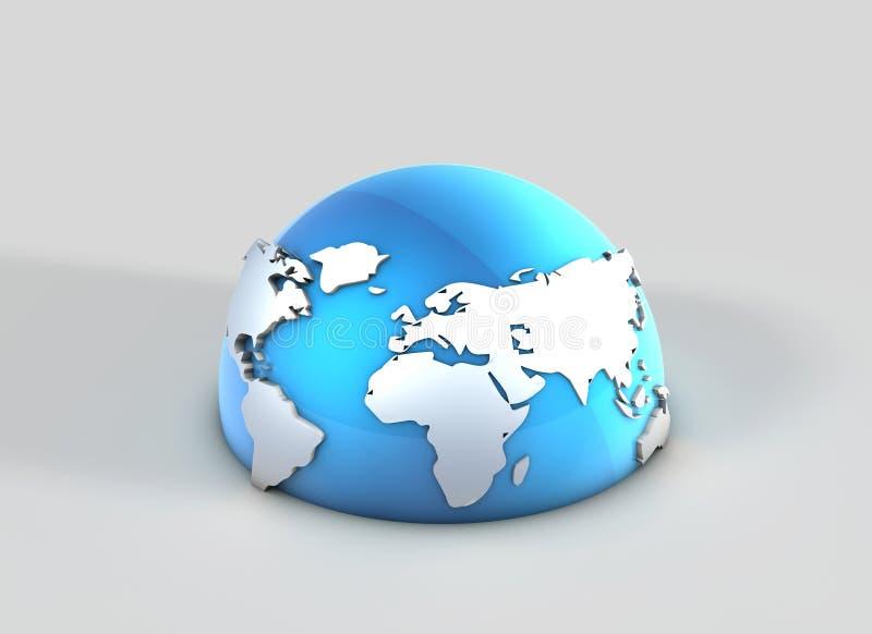 Världskarta arkivbild