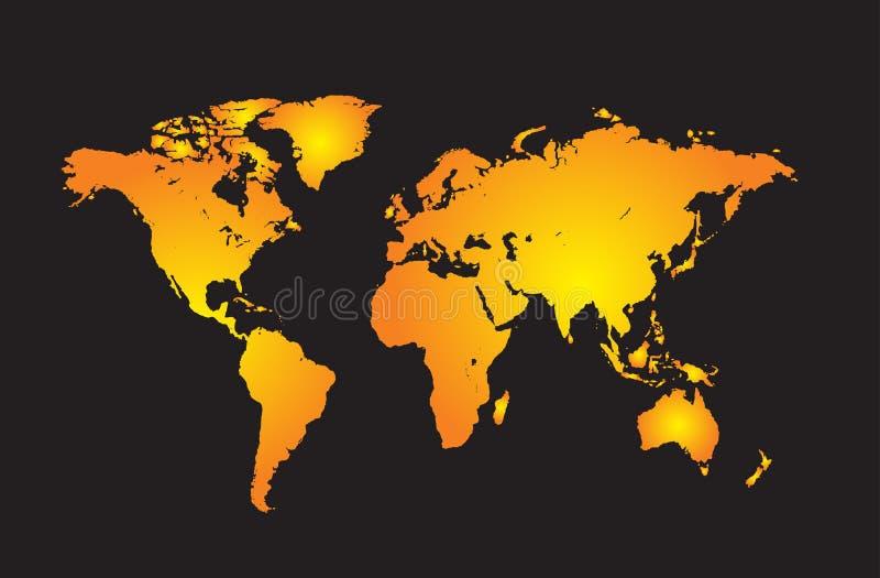 Världskarta vektor illustrationer