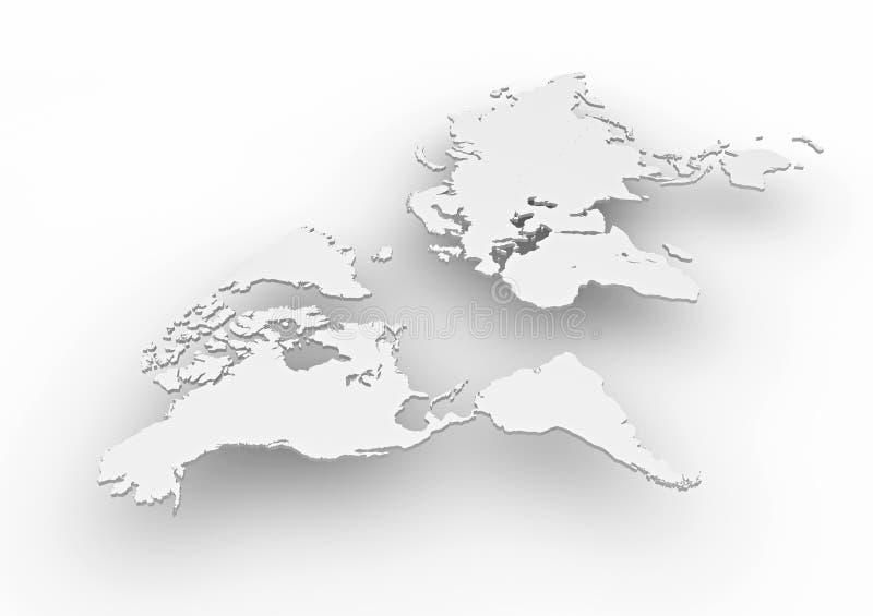 världskarta 3d vektor illustrationer