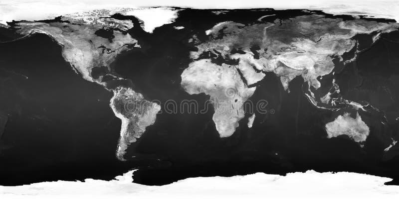 Världskartan - BW royaltyfri bild
