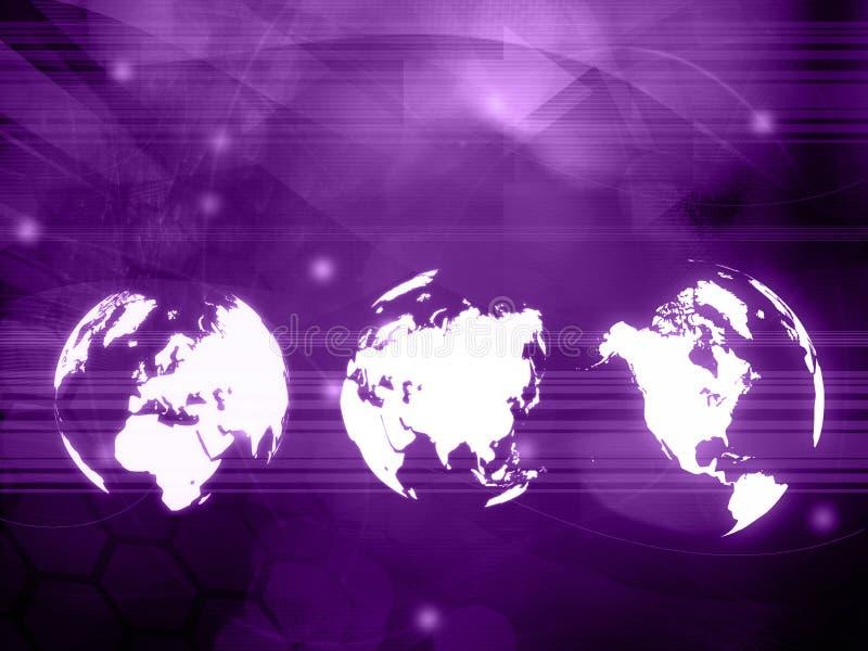 Världskartateknologistil stock illustrationer