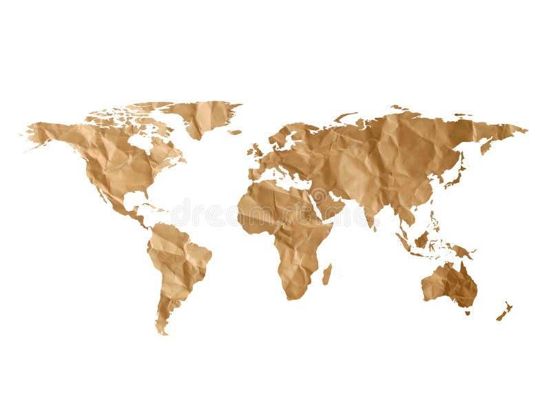 Världskartatextur royaltyfri illustrationer