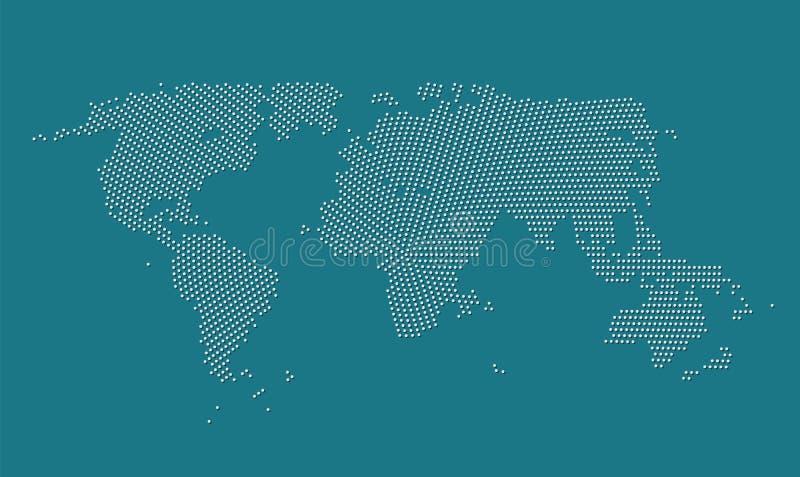 Världskartavektorillustration vektor illustrationer