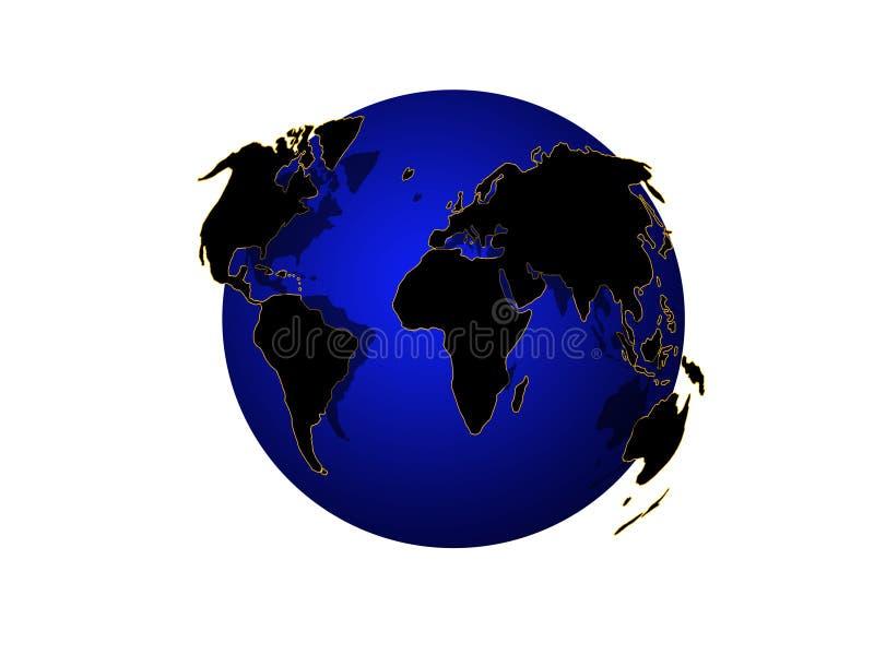 Världskartlägga-jordklot arkivfoton