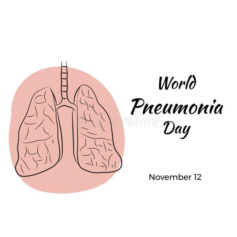 Världslunginflammationdag royaltyfri illustrationer
