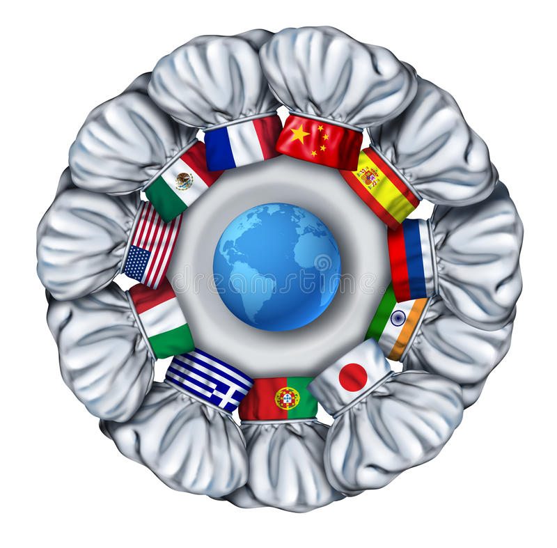 Världsmatlagning stock illustrationer