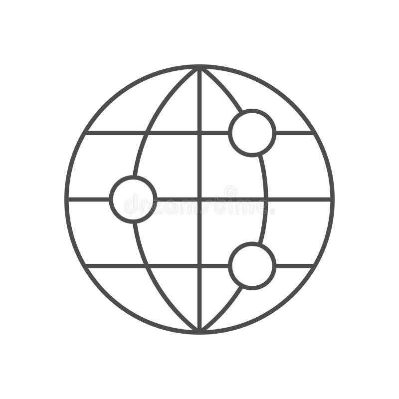 Världsnätverkslinje symbol royaltyfri illustrationer