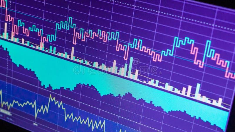 Världsnationalekonomigraf Begreppsmässig sikt av utbytesmarknaden vektor illustrationer