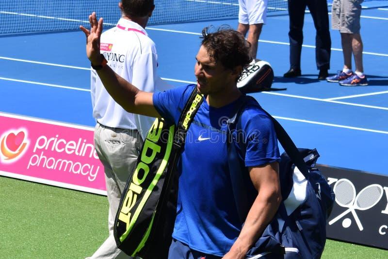 VärldsNo1-mäns tennisspelare Rafael Nadal fotografering för bildbyråer