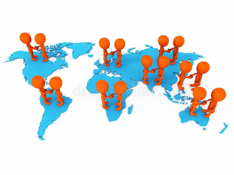 Världsomspännande affärsavtal stock illustrationer