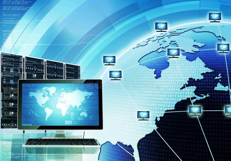 Världsomspännande datornät stock illustrationer